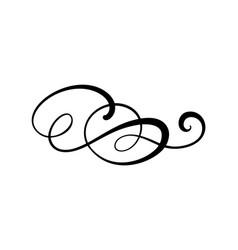 floral calligraphy element flourish border vector image