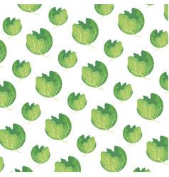 Fresh lettuce pattern background vector