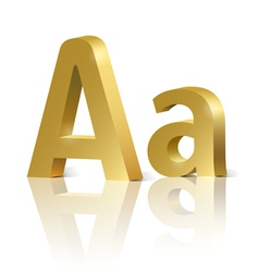 Golden letter A vector