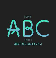 grade 1 font alphabet letters vector image