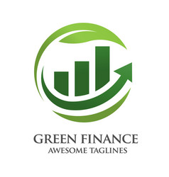 Green finance logo vector