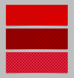 halftone red heart pattern banner template vector image