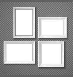 hanging paper sign frame grey picture shadow vector image