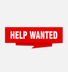Help wanted vector