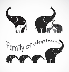 Image of family elephants vector