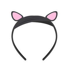 Isolated headband icon with ears vector
