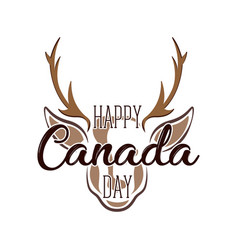 isolated moose avatar canada day vector image