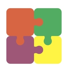 Jigsaw puzzle pieces for multiple uses vector