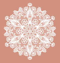 lacy round napkin vector image