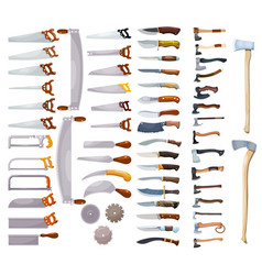 Large colored collection a home working tool vector