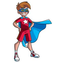 Little super boy vector
