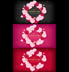 Love valentines day square template vector