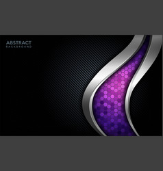 Modern abstract purple tech with silver line and vector