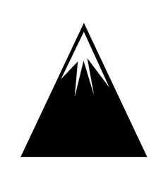 Mountain landscape isolated icon vector