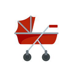 New baby carriage icon flat style vector