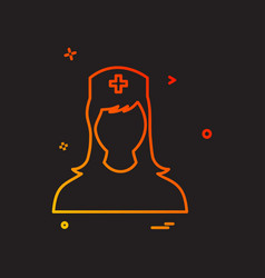 nurse female icon design vector image
