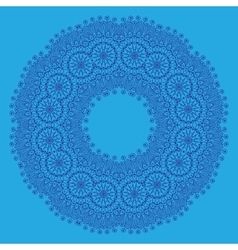 Ornamental colorful round vector image