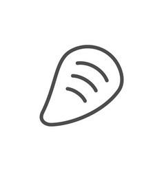 Oyster line outline modern icon vector