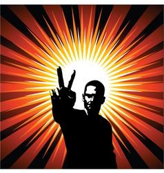 Peace design vector