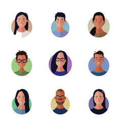 people faces cartoon vector image