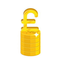 pound growing stack vector image
