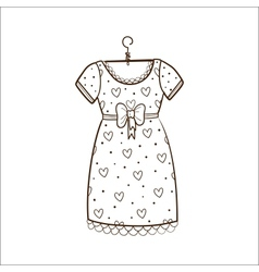 Pretty dress isolated on white vector