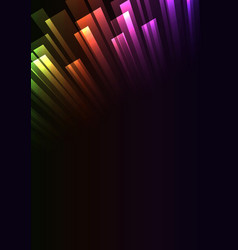 Rainbow overlap stripe rush in dark background vector