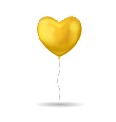 realistic detailed 3d golden balloon on a white vector image