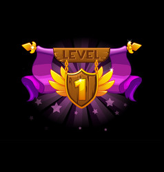 receiving the cartoon achievement game screen vector image