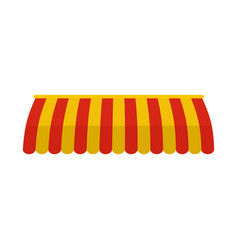 red yellow street tent icon flat style vector image
