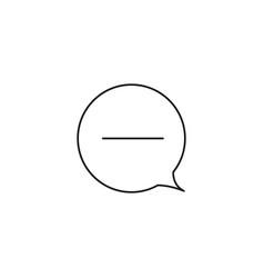 remove chat icon vector image