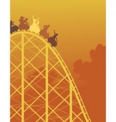 rollercoaster ride vector image