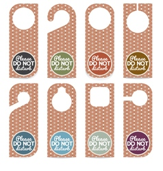 Set Of Door Hanger Please Do Not Disturb vector