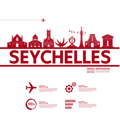 seychelles travel destination vector image