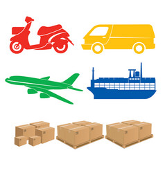 Shipping sign logistics vector