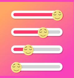 Slider bar sleep and drowsy for social media story vector