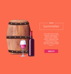 sommelier services advert icon vector image