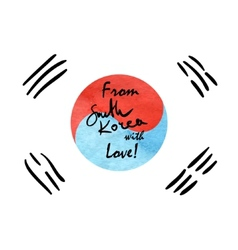 South Korea Flag Sketch vector image