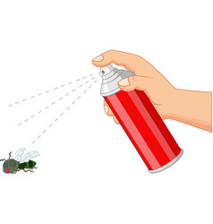 spray killing insect vector image