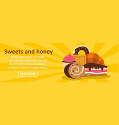 sweets and honey banner horizontal concept vector image