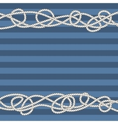 Tangled marine ropes borders for text vector