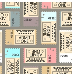 Tickets seamless pattern abstract texture art vector image
