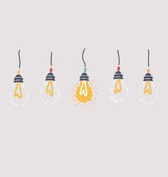 trendy lighting bulb lamp vector image