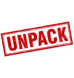 Unpack square stamp vector
