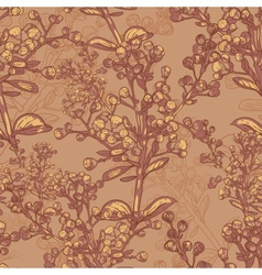 Vntage seamless pattern for retro wallpapers vector image
