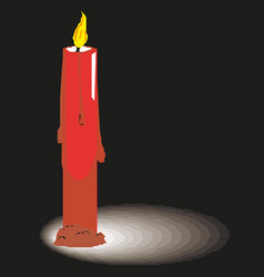 Wax candle on a white background candle burning vector