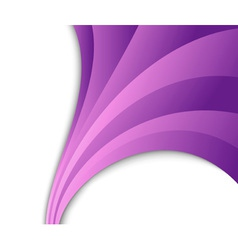 abstract violet wave flow vector image vector image