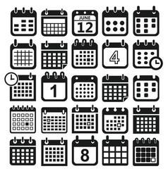 Calendar design icons vector