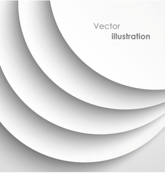Paper circles with shadows background vector image