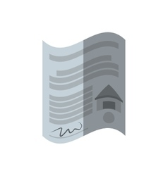 Real estate contract buy house shadow vector